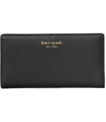 kate spade new york roulette slim bifold leather wallet