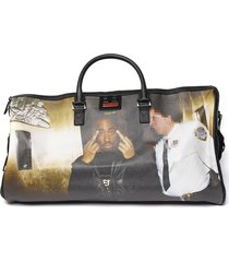sprayground pvc tupac duffle bag