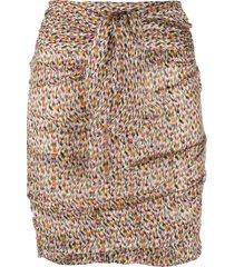 ba & sh dina ruched mini skirt - neutrals