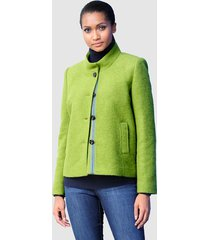 wollen jas alba moda groen