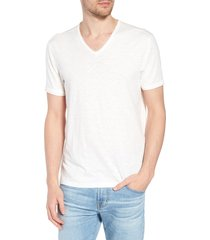 men's john varvatos star usa slim fit slubbed v-neck t-shirt, size x-small - white