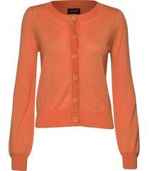 cool wool w - isamu gebreide trui cardigan oranje sand