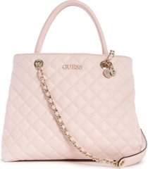 guess illy quilted society satchel