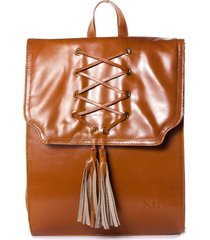 cartera de cuero chocolate xl extra large beck corset
