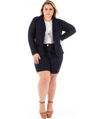 blazer jeans feminino slin plus size confidencial extra