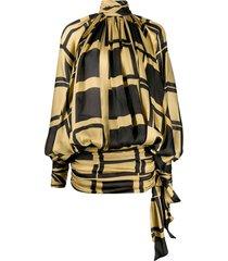 zimmermann resistance batwing dress - gold