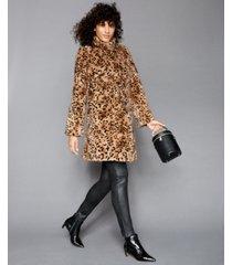 the fur vault printed mink-fur reversible coat