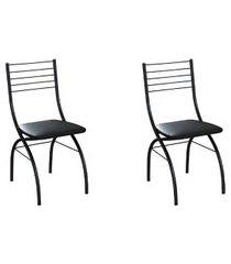 conjunto com 2 cadeiras devon preto