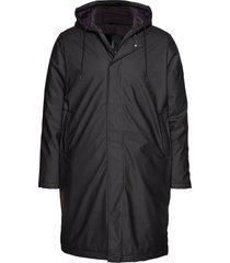 padded coat parka jacka svart rains