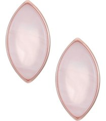 trifari rose gold-tone stud earrings