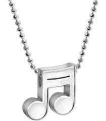 """alex woo musical note beaded link 16"""" pendant necklace in sterling silver"""