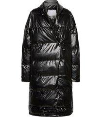 lunga puffer long coat fodrad rock svart designers, remix
