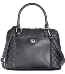 giani bernini quilted dome satchel, created for macy's