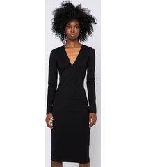 akira luxe knit long sleeve v neck dress