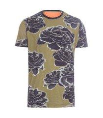 t-shirt masculina pocket ink rose - verde