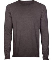 camiseta masculina manga longa tingimento grafite