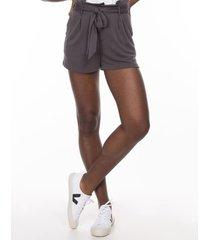 shorts & bermudas khelf shorts feminino clochard grafite - grafite - feminino - dafiti