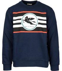 etro cotton stretch sweatshirt