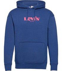 t3 relaxd graphic hoodie hm ho hoodie trui blauw levi´s men