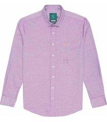 camisa casual manga larga con textura slim fit para hombre 97573