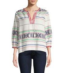 jenollina printed tunic blouse
