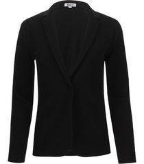 blazer mujer unicolor color negro, talla 12
