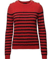 cotton/wool stickad tröja multi/mönstrad stella nova
