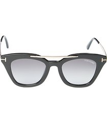 49mm squared cat eye sunglasses