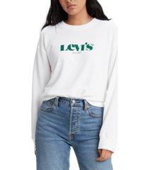 levi's women's logo crewneck sweatshirt
