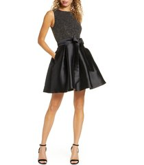 women's sam edelman metallic knit fit & flare dress