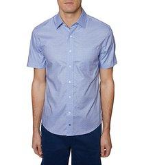 regular-fit printed button-down shirt
