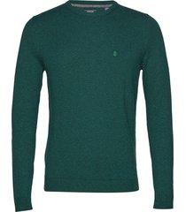 12gg soft cotton crew neck stickad tröja m. rund krage grön izod