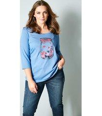 shirt janet & joyce rookblauw