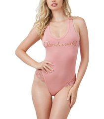 "dreamgirl women's soft spandex-jersey ""bridesmaid"" bodysuit"