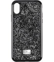 custodia per smartphone con bordi protettivi glam rock, iphoneâ® xs max, nero