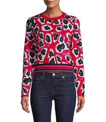 harrison printed wool-blend sweater