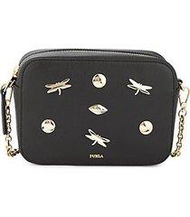 mini embellished leather crossbody bag