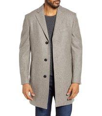 men's cardinal of canada sterling wool overcoat, size 46r - beige