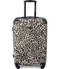 katie 24-inch leopard-print suitcase