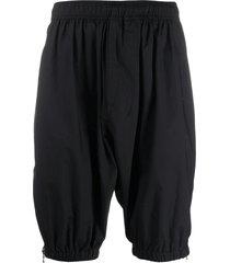 niløs drop crotch shorts - black