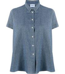 aspesi flared shirt - blue