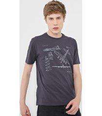 camiseta dudalina avião grafite - kanui