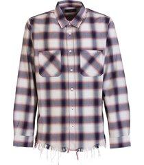 amiri logo flannel shirt