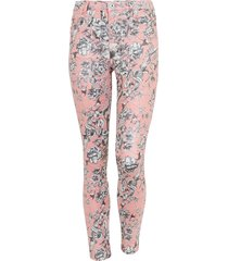 skinny jeans bloemen