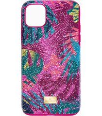 custodia per smartphone con bordi protettivi tropical, iphoneâ® 11 pro max, multicolore scuro