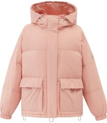 194183-667 | hooded down jacket | pink - xs