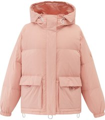 194183-667 | hooded down jacket | pink - m