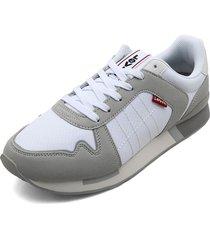tenis blanco-gris levis