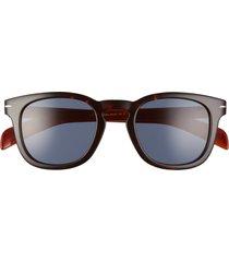 david beckham eyewear eyewear by david beckham 49mm square sunglasses in dark havana brown /blue avio at nordstrom