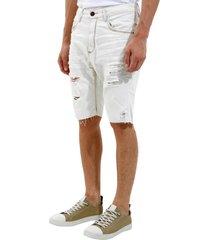 bermuda john john rock polonia 3d jeans azul masculina (jeans claro, 50)